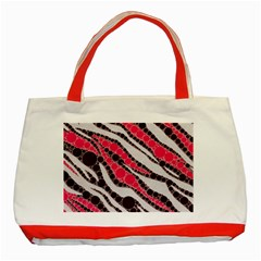 Red Zebra Bling  Classic Tote Bag (red)