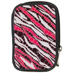 Red Zebra Bling  Compact Camera Leather Case
