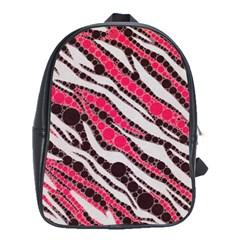 Red Zebra Bling  School Bag (large)