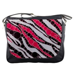 Red Zebra Bling  Messenger Bag