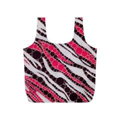 Red Zebra Bling  Reusable Bag (S)
