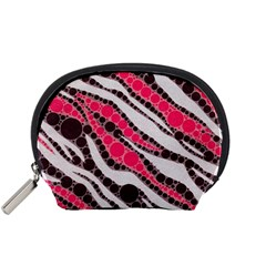 Red Zebra Bling  Accessory Pouch (Small)