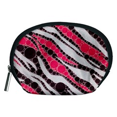 Red Zebra Bling  Accessory Pouch (Medium)