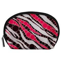 Red Zebra Bling  Accessory Pouch (large)