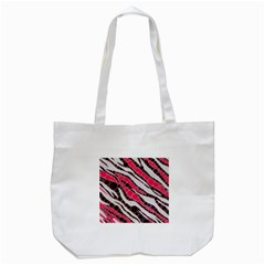Red Zebra Bling  Tote Bag (White)