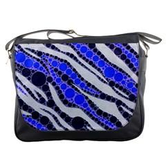 Blue Zebra Bling  Messenger Bag
