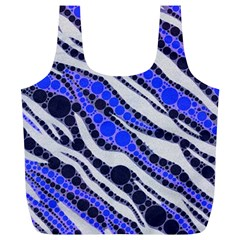Blue Zebra Bling  Reusable Bag (XL)