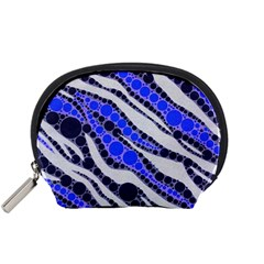 Blue Zebra Bling  Accessory Pouch (Small)