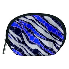 Blue Zebra Bling  Accessory Pouch (medium)