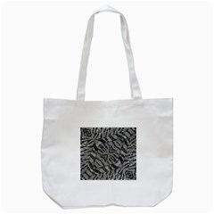 Silver Zebra  Tote Bag (white)