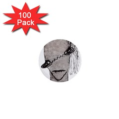 Vampire Monster Illustration 1  Mini Button (100 Pack)