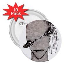 Vampire Monster Illustration 2 25  Button (10 Pack)