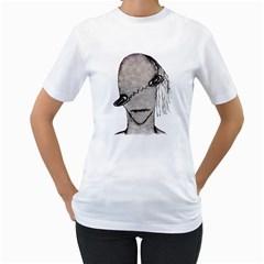 Vampire Monster Illustration Women s T-Shirt (White)
