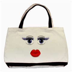 Face With Blue Eyes Classic Tote Bag