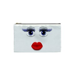Face With Blue Eyes Cosmetic Bag (small)