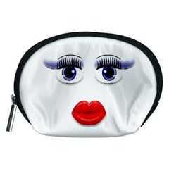 Face with Blue Eyes Accessory Pouch (Medium)