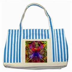 Journey Home Blue Striped Tote Bag
