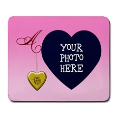 A Golden Rose Heart Locket Large Mouse Pad (rectangle)