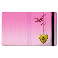 A Golden Rose Heart Locket Apple Ipad 3/4 Flip Case
