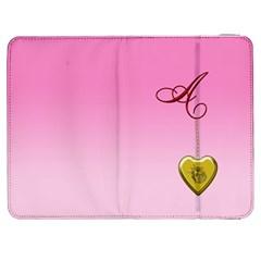 A Golden Rose Heart Locket Samsung Galaxy Tab 7  P1000 Flip Case