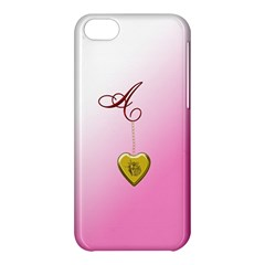 A Golden Rose Heart Locket Apple Iphone 5c Hardshell Case