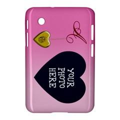 A Golden Rose Heart Locket Samsung Galaxy Tab 2 (7 ) P3100 Hardshell Case