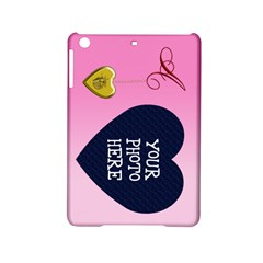 A Golden Rose Heart Locket Apple Ipad Mini 2 Hardshell Case