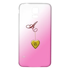 A Golden Rose Heart Locket Samsung Galaxy S5 Back Case (White)