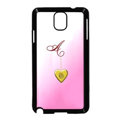 A Golden Rose Heart Locket Samsung Galaxy Note 3 Neo Hardshell Case (Black)