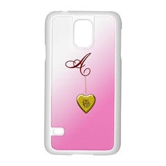 A Golden Rose Heart Locket Samsung Galaxy S5 Case (White)