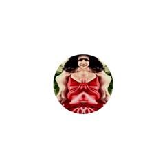 Cubist Woman 1  Mini Button Magnet