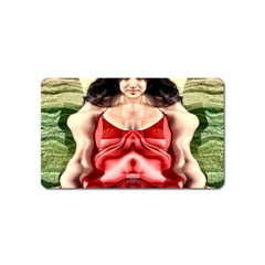 Cubist Woman Magnet (name Card)