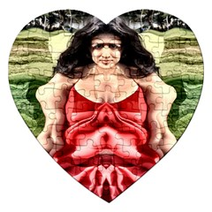 Cubist Woman Jigsaw Puzzle (Heart)