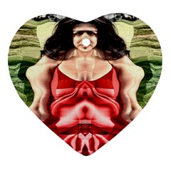Cubist Woman Heart Ornament (two Sides)