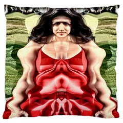 Cubist Woman Large Cushion Case (two Sided)