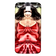 Cubist Woman Samsung Galaxy S5 Back Case (White)