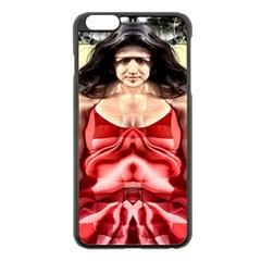 Cubist Woman Apple Iphone 6 Plus Black Enamel Case