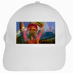 Fusion With The Landscape White Baseball Cap