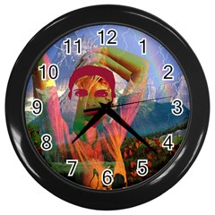 Fusion With The Landscape Wall Clock (black)