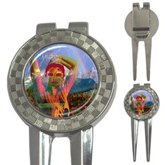 Fusion With The Landscape Golf Pitchfork & Ball Marker