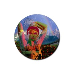 Fusion With The Landscape Drink Coaster (round)