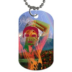 Fusion With The Landscape Dog Tag (one Sided)