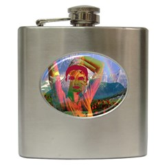 Fusion With The Landscape Hip Flask
