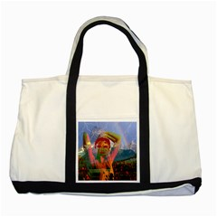 Fusion With The Landscape Two Toned Tote Bag