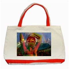 Fusion With The Landscape Classic Tote Bag (Red)