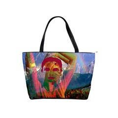Fusion With The Landscape Large Shoulder Bag