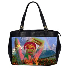 Fusion With The Landscape Oversize Office Handbag (two Sides)