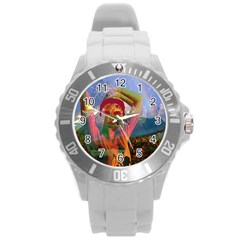 Fusion With The Landscape Plastic Sport Watch (large)
