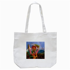 Fusion With The Landscape Tote Bag (white)