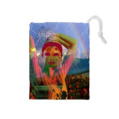 Fusion With The Landscape Drawstring Pouch (Medium)